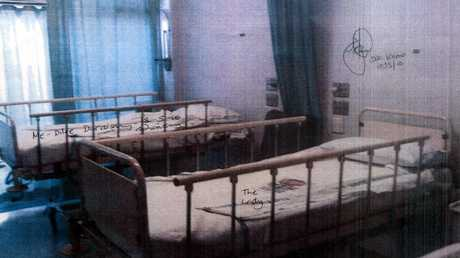 The ward at Auburn Hospital where Keli Lane gave birth to daughter Tegan in 1996, presented in evidence at Supreme Court in Sydney.