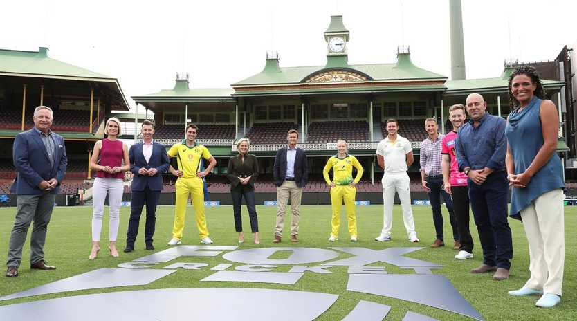 The Fox Cricket commentary team and players at the SCG to launch FOX CRICKET.