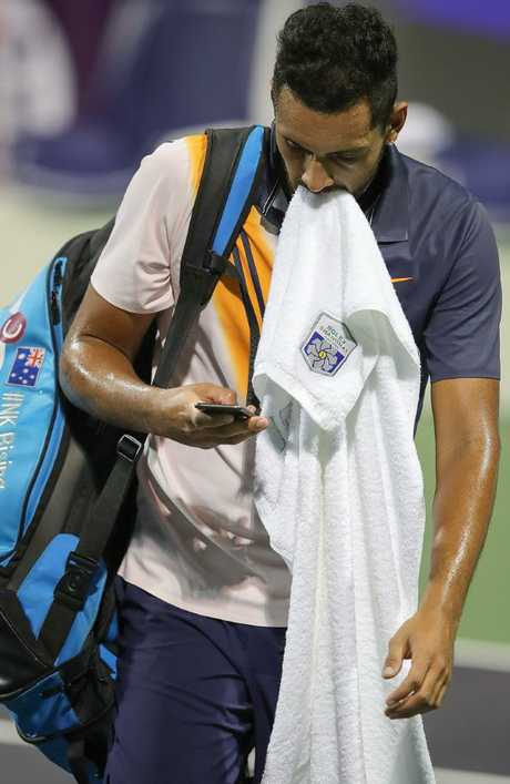 Nick Kyrgios continued his Shanghai nightmare with a first-round exit.