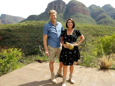 Julia Morris hosts I'm a Celebrity … Get Me Out of Here with Dr Chris Brown. Picture: Channel 10