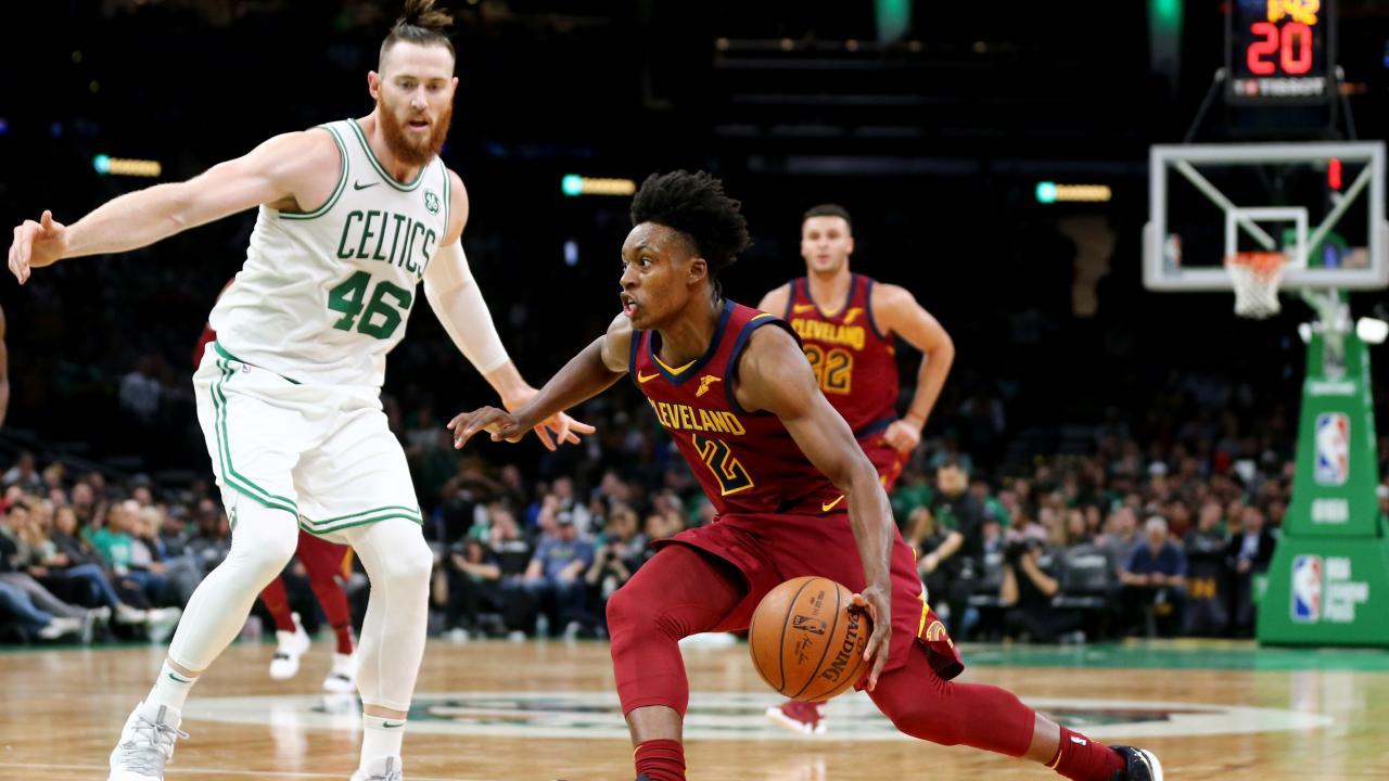 Aron Baynes defends Collin Sexton during the Celtics' controversial pre-season loss.