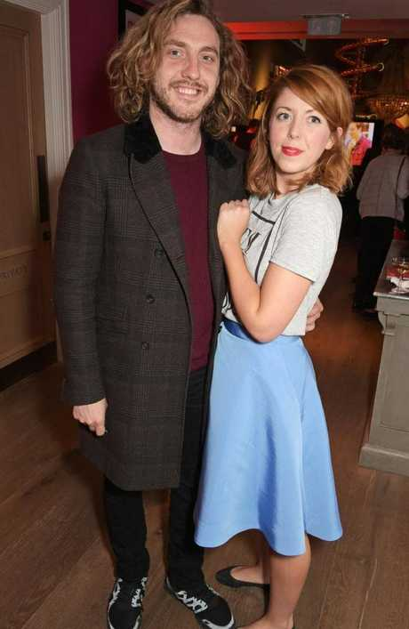 Comedian Seann Walsh and now ex-girlfriend Rebecca Humphries. Picture: Getty
