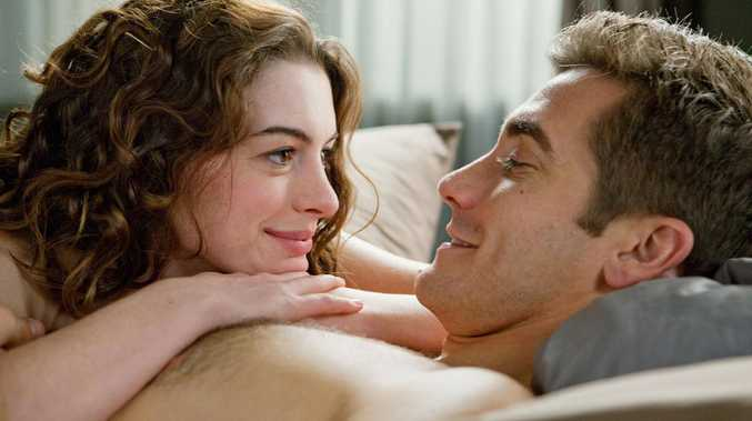Actors Anne Hathaway and Jake Gyllenhaal in a scene from the 2010 film 'Love And Other Drugs'.