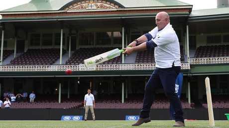 Former Australian coach Darren Lehmann at the Fox Cricket launch at the SCG on Tuesday.   Picture: Brett Costello