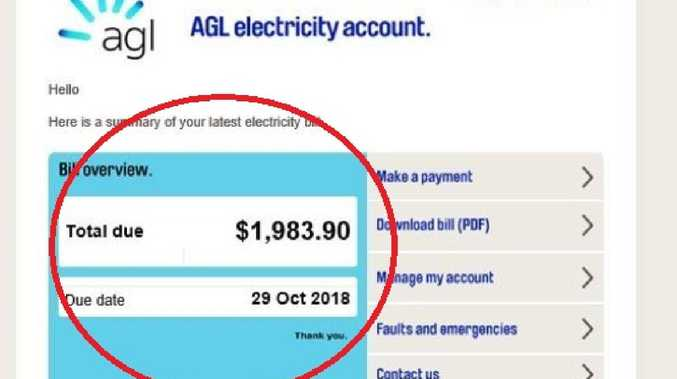 If you're a customer with energy provider AGL, make sure you look at your bill very closely.
