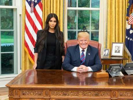 Kim Kardashian met with Donald Trump at the White House in May. Picture: Instagram