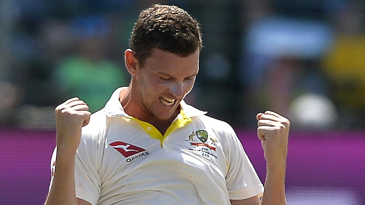 Australian vice-captain Josh Hazlewood knows he won't be able to maintain a full workload over a hectic summer. Picture: Getty Images