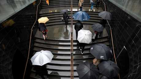 Rainy condition could return to Sydney, as in here at Martin Place. Picture: AAP Image/Mick Tsikas.
