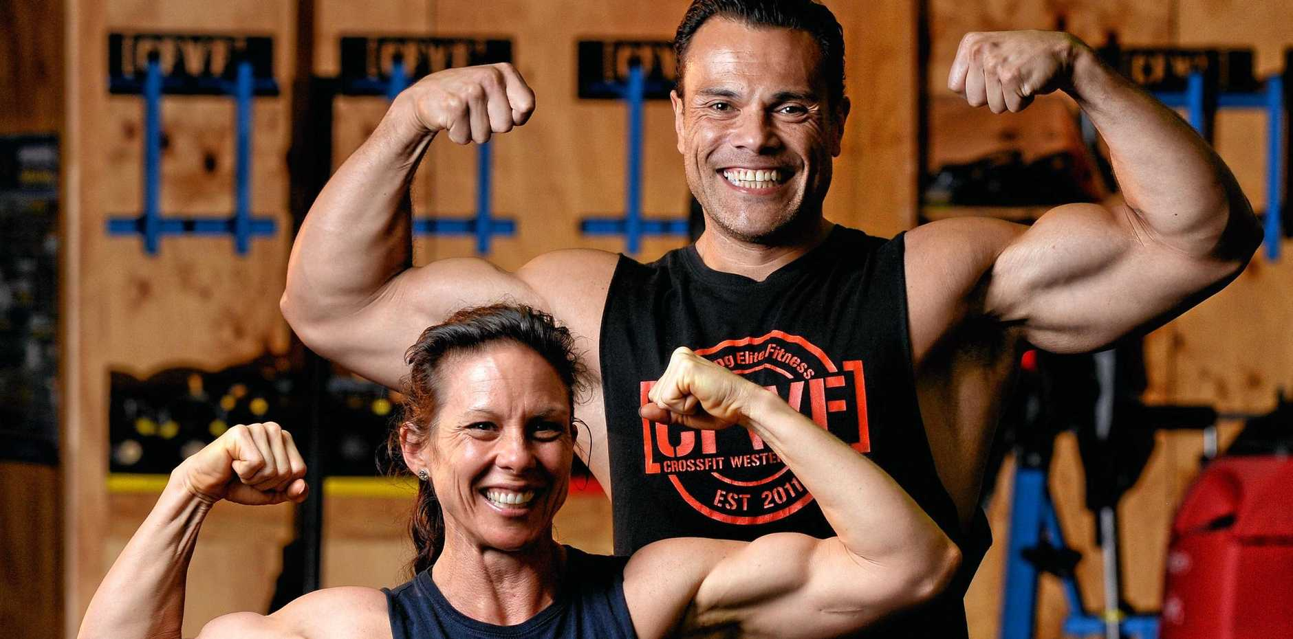 TERRIFIC TEAM: Kate Morris and Willy Balas proved their supreme fitness and teamwork by winning the CrossFit Team Series 40-44 years age category.