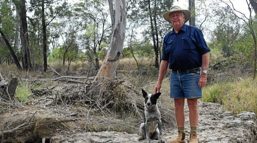 NOT HERE: Chinchilla landholder Glen Beasley is a member of the Cameby Concerned Citizens group, fighting to stop a waste facility from accepting toxic CSG waste.
