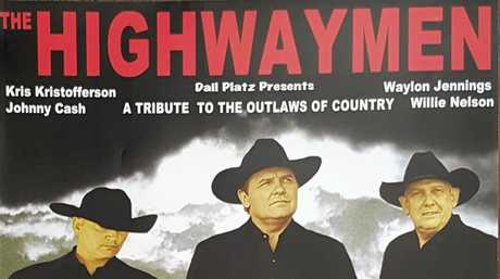 OUTLAWS: The Highwaymen will be appearing at the GECC on the 12 October