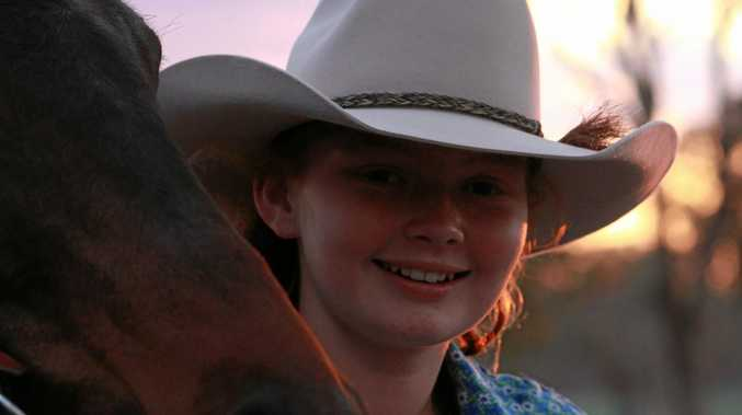 RIDING ON: There's nowhere Abigail Skaines feels more at home than in the saddle, but entering the Warwick Rodeo Junior Cowgirl Competition will push this young rider out of her comfort zone.