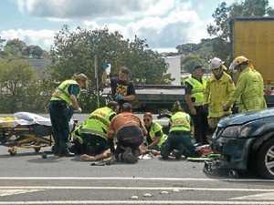 Man injured as motorbike and car crash on Bruce Hwy