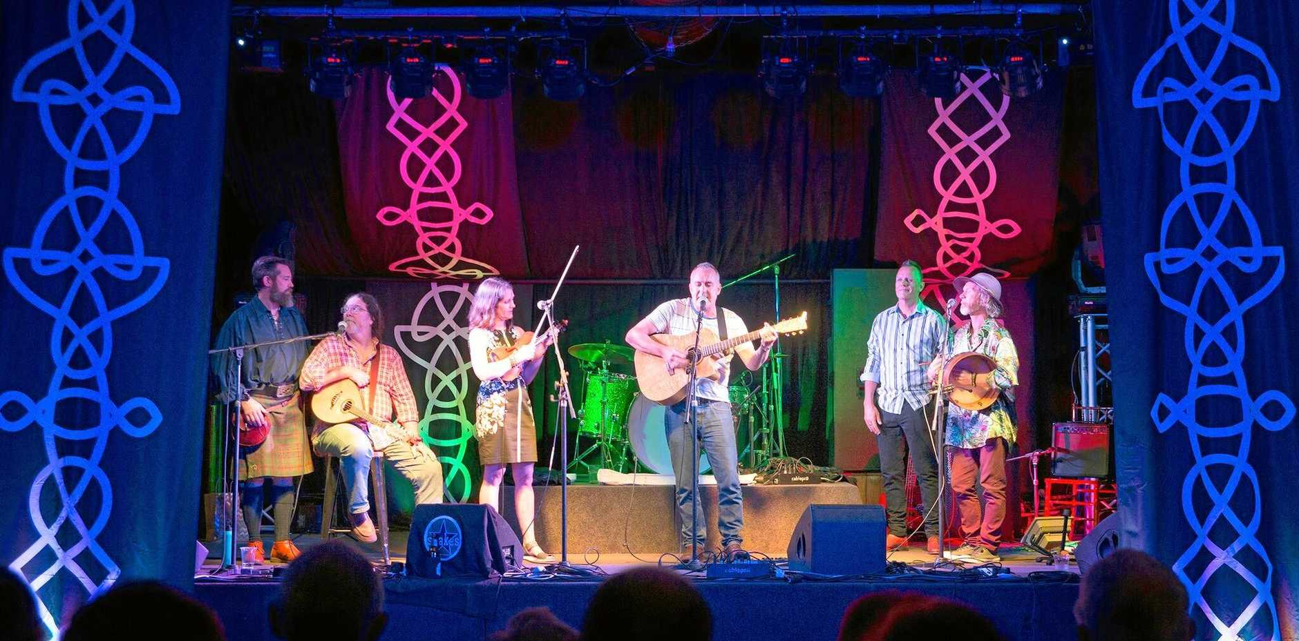 Plenty of action on the stage at the Celtic Festival in Eumundi.