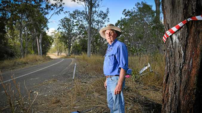 ENOUGH: John Bell owns  land adjacent to Monday's fatal crash on Turkey Beach Rd and has concerns about the road given the number of other accidents there in recent years.