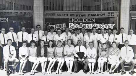 Faulkner Motors staff pictured circa 1970s.