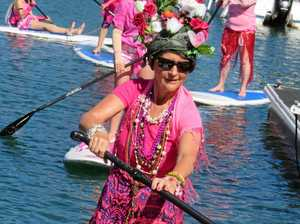 Join sea of pink on Noosa Sound