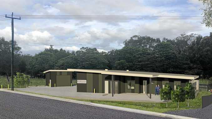 PLAN: An artist impression of the new ambulance station at Pottsville.