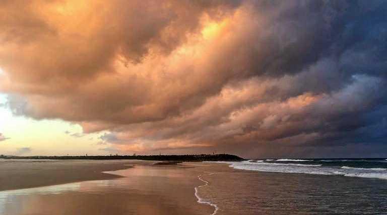 Sunset at Brunswick Heads Beach.