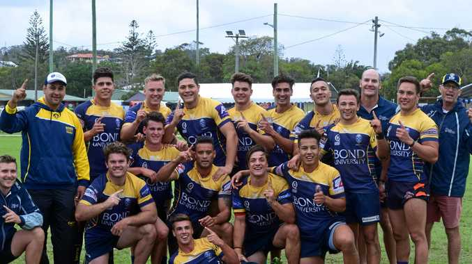 DEFENDING CHAMPIONS: Bond University will be back to defend its title at the Byron Bay Rugby Sevens next weekend.