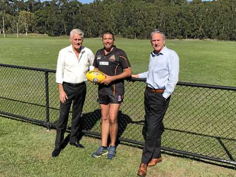 Tweed Tigers vice president Jason Clark was all smiles after Barry Shepherd Oval received $350,000 for facility upgrades.