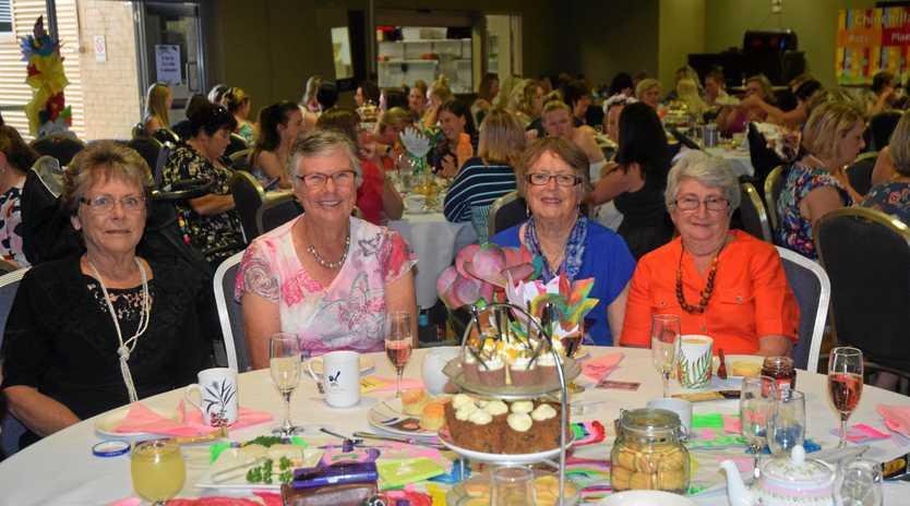 HIGH TEA: Nilia Jones, Heather Mason, Pam Fawcett, Bervl Rennick at a past High Tea fundraiser for C& K.