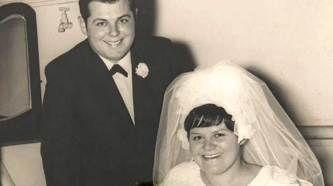 RIGHT: The wedding day of Ronald and Narelle Smidt, who will celebrate 50 years of marriage this weekend.