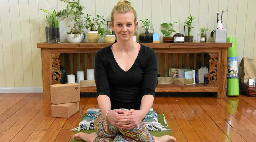 DE-STRESS: Jes Kerle is a firm advocate of yoga and pilates to obtain balance.