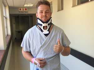 Broken neck to thumbs up: Good news for All Blacks star