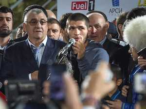 'Shut up that dimwit': Khabib returns home a hero