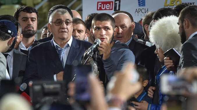 Khabib Nurmagomedov returns a hero.