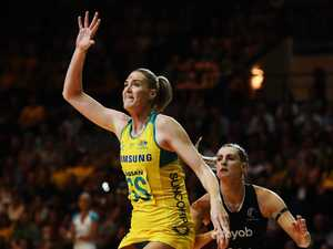 Diamonds shine in landmark netball Test