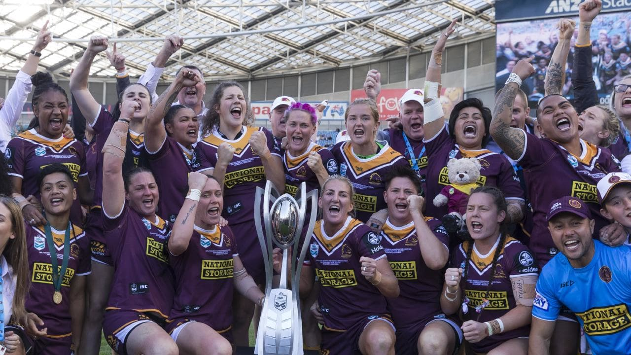 Brisbane Broncos won the inaugural NRL Women's Premiership Grand Final against the Sydney Roosters. (AAP Image/Craig Golding)