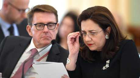 Queensland Premier Annastacia Palaszczuk has received a letter from a woman who fears for her life. (AAP Image/Dave Hunt)