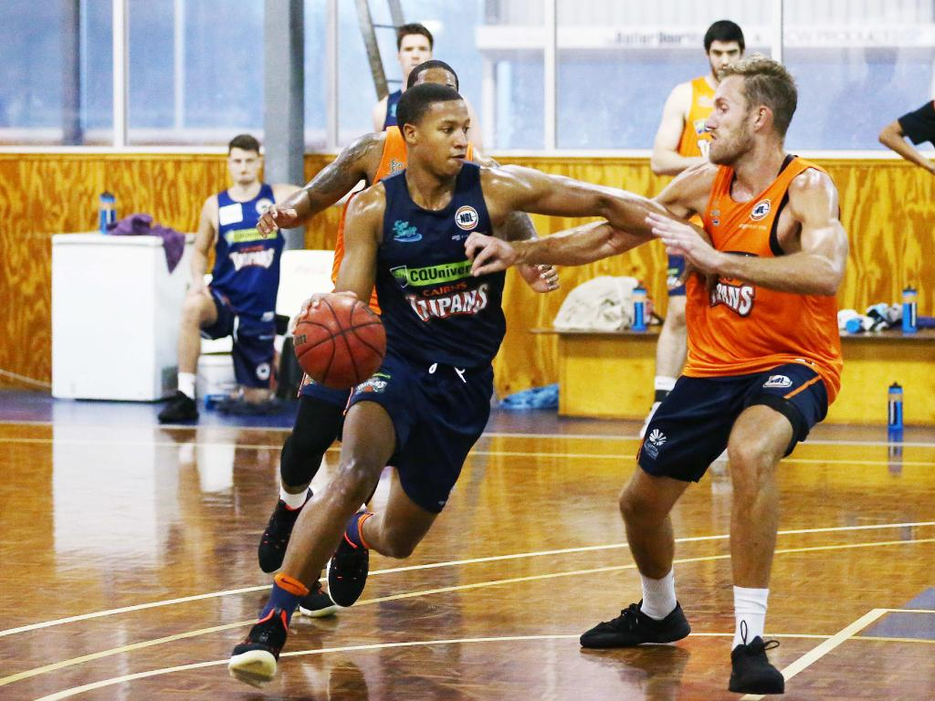 Devon Hall is expected to star for the Taipans. Picture: Brendan Radke