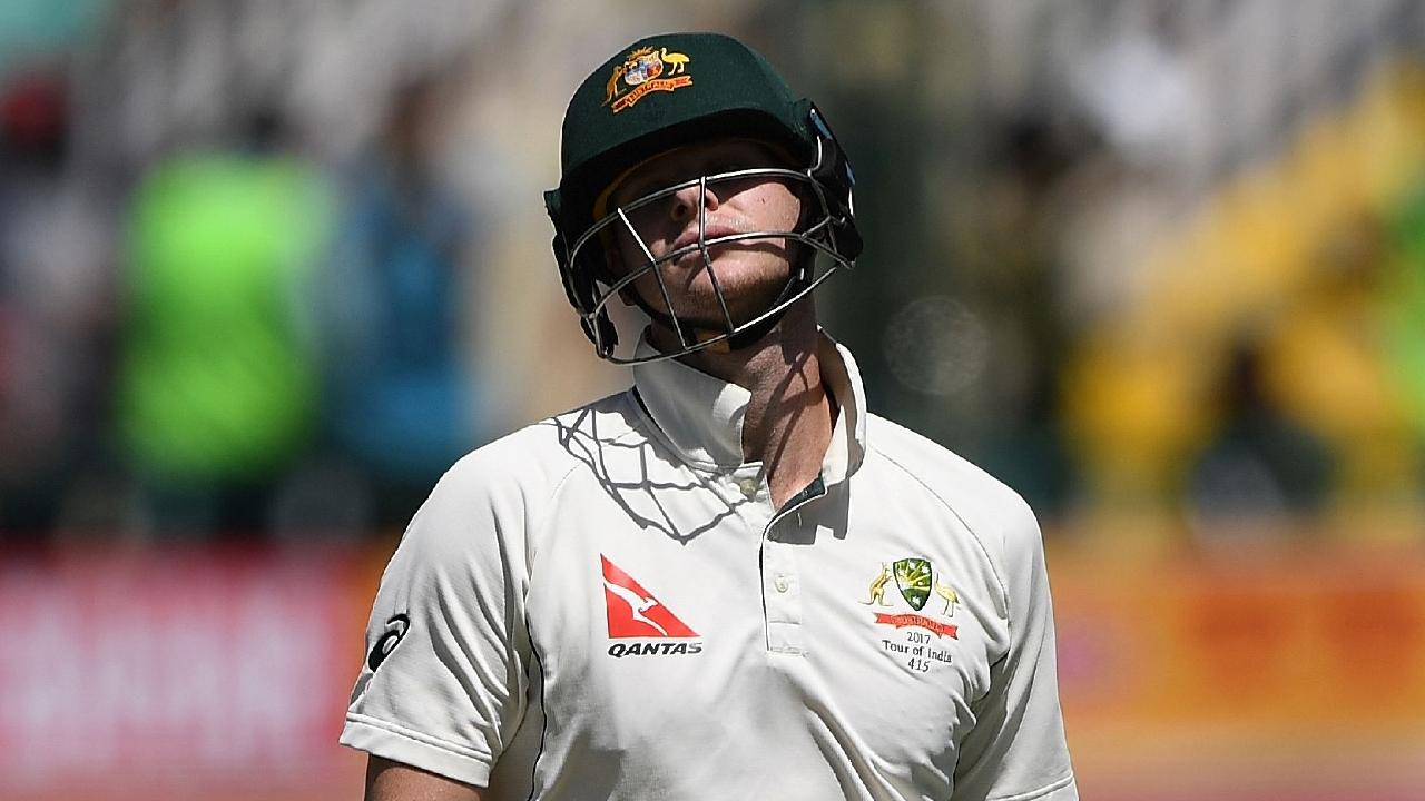 Australia's captain Steve Smith reacts as he walks