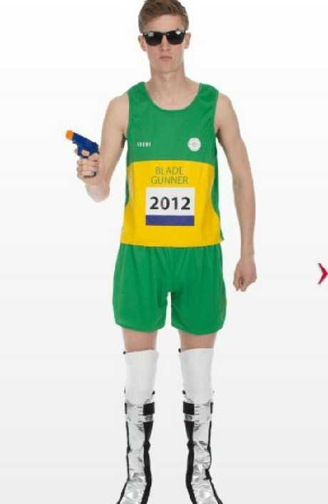 The Oscar Pistorius Halloween costume has raised eyebrows.