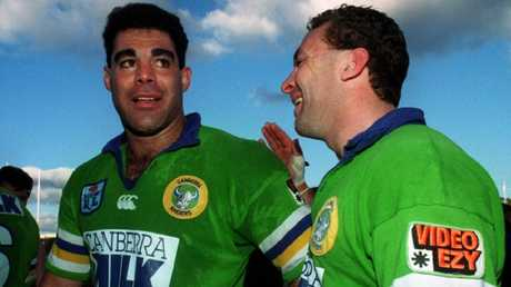 Mal Meninga and Ricky Stuart in 1994.
