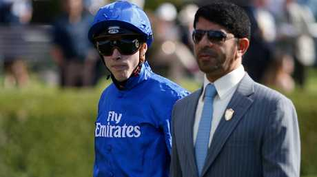James Doyle with Godolphin trainer Saeed bin Suroor.