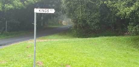 Kings Rd at Federal, where a man was killed by a falling tree during a storm on Wednesday night.
