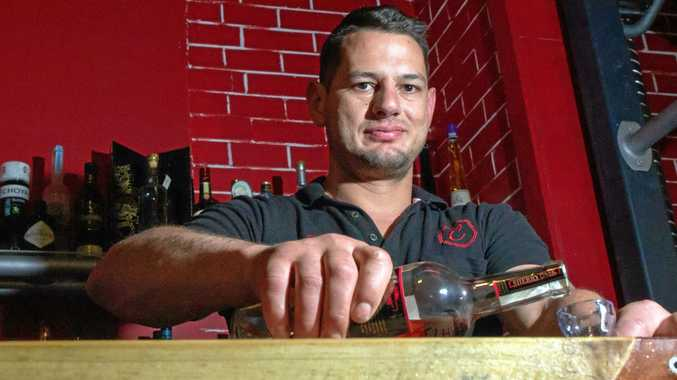 CHEERS TO THAT: Chris Cottone mans the new VIP bar at Cottone's Bar and Restaurant in Gatton.