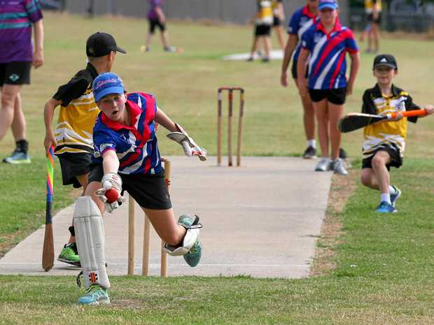 Young players from Wildcats and Sports Spirit display their skills in last season's Ipswich junior vigoro grand final. The new season starts on Saturday with a fun day.