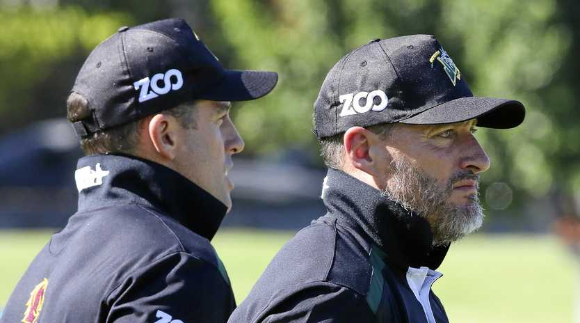 Ipswich Jets co-coaches Ben and Shane Walker.