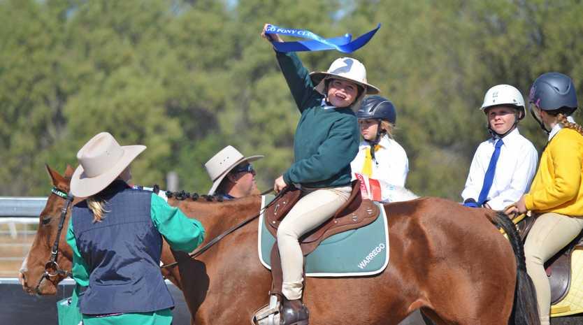 Warrego Pony Club rider Indie Everitt.