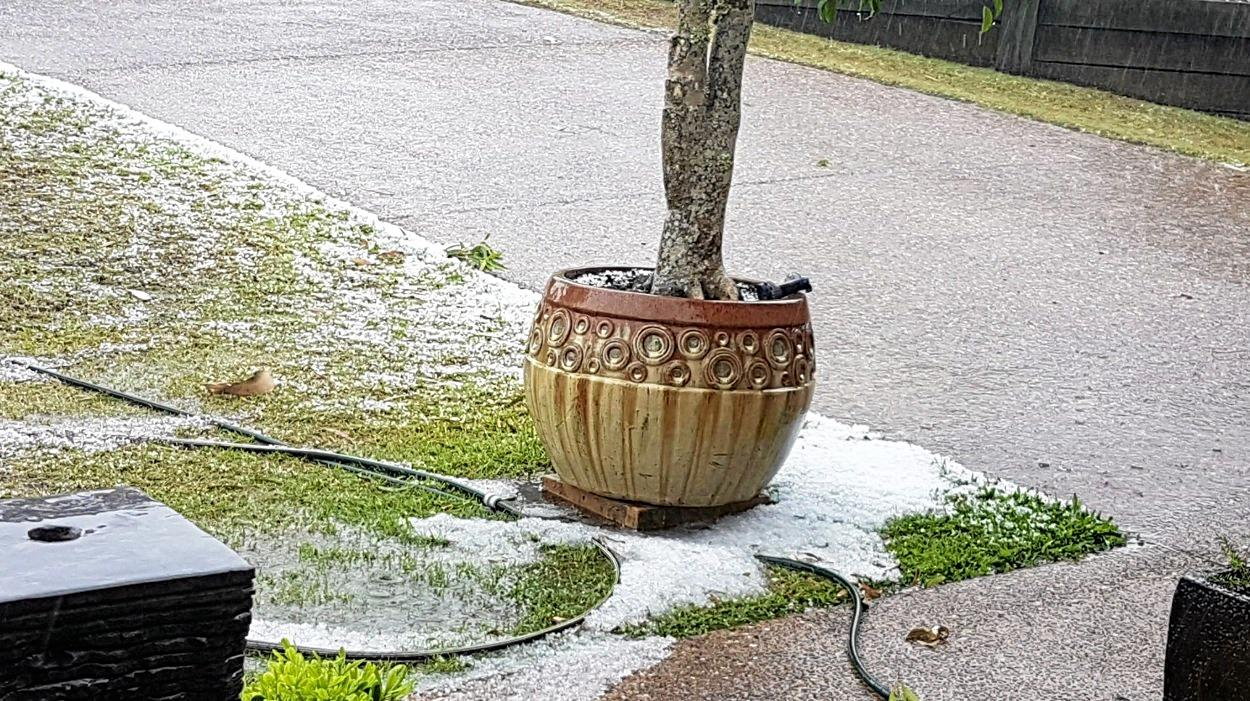 HAIL DAMAGE: Southside residents received a lot of hail earlier this week.