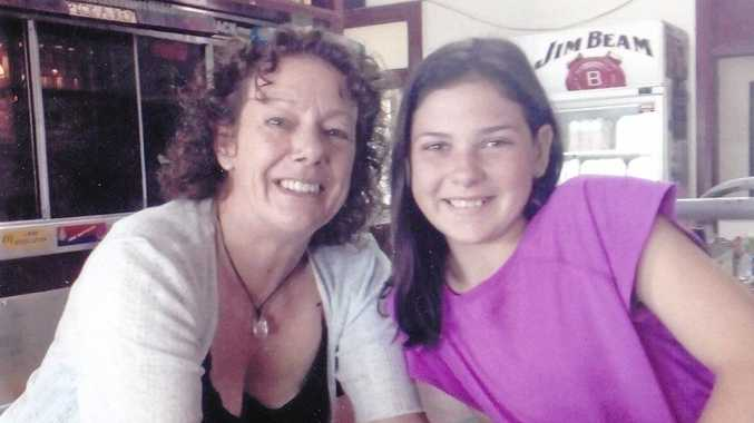 FINANCIAL SUPPORTER: Narelle, from Burnett Backpackers, with Abigail Driver .
