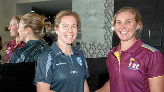 Australian rep Delissa Kimmince (right) with Alex Blackwell.