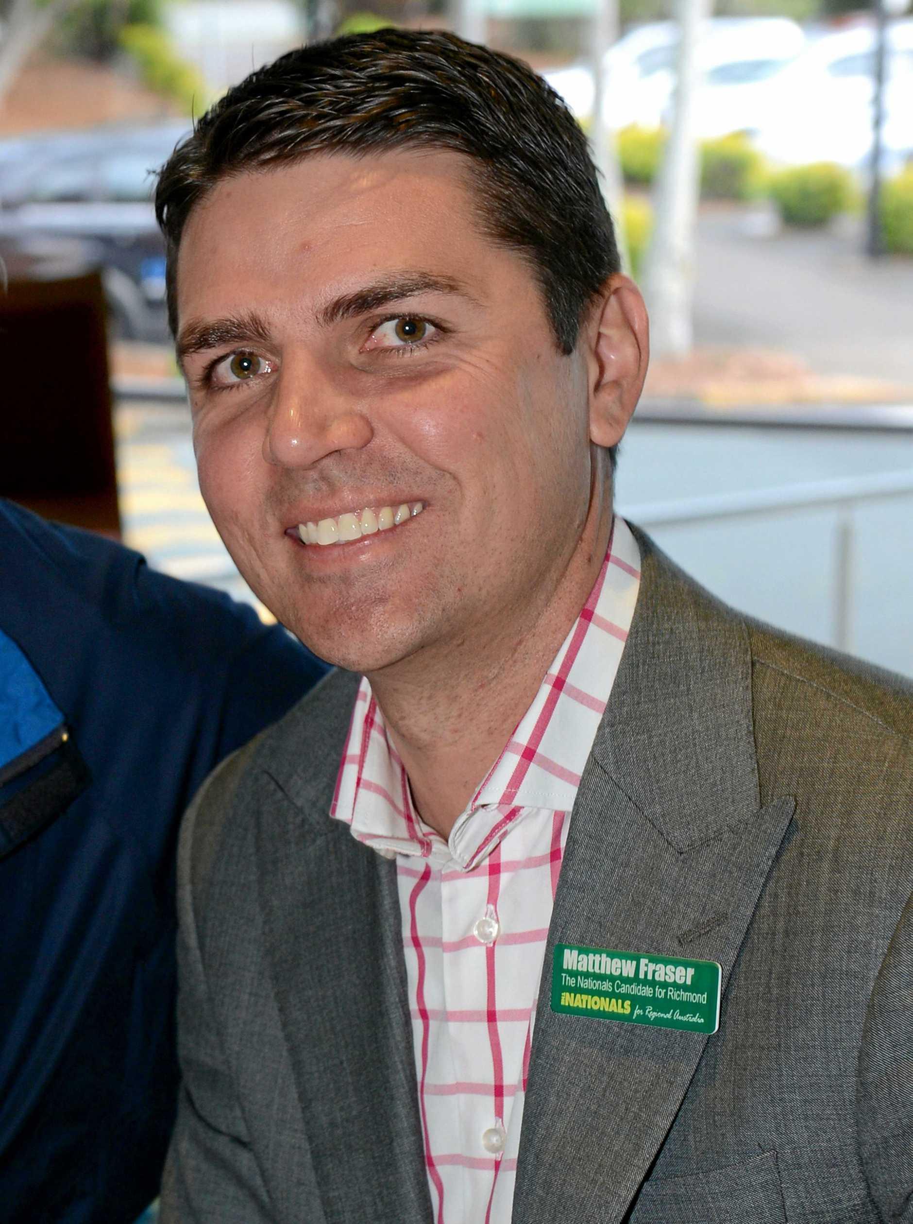 Former Nationals candidate Matthew Fraser. Photo: John Gass / Daily News