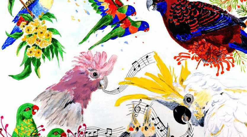 STUNNING: Shirley Bridges' A Musical Interlude is one of the calendar's artworks.