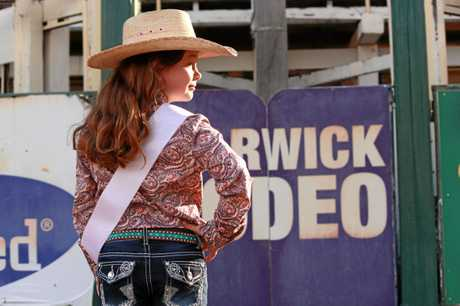 GIDDY UP: Warwick Rodeo Queen Quest Tiny Tots entrant Georgia Finnigan is rearing to make her dream a reality.